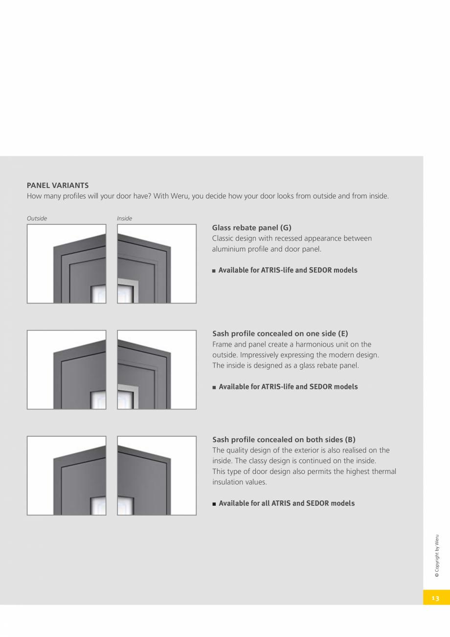 Pagina 13 - Usi de exterior din lemn-aluminiu UNILUX Catalog, brosura Engleza  strips, which...