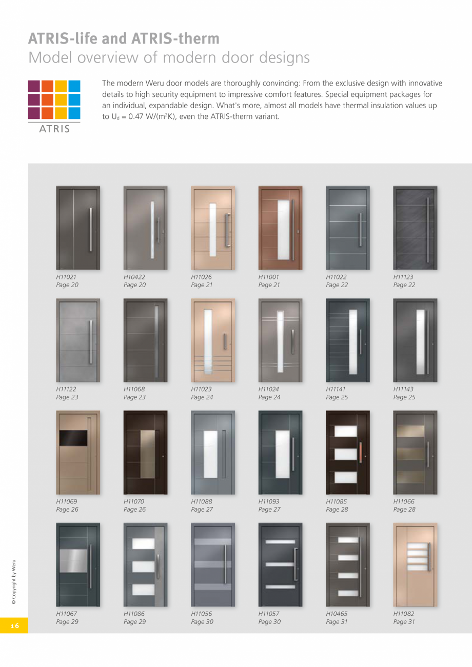 Pagina 16 - Usi de exterior din lemn-aluminiu UNILUX Catalog, brosura Engleza rom your imagination. ...