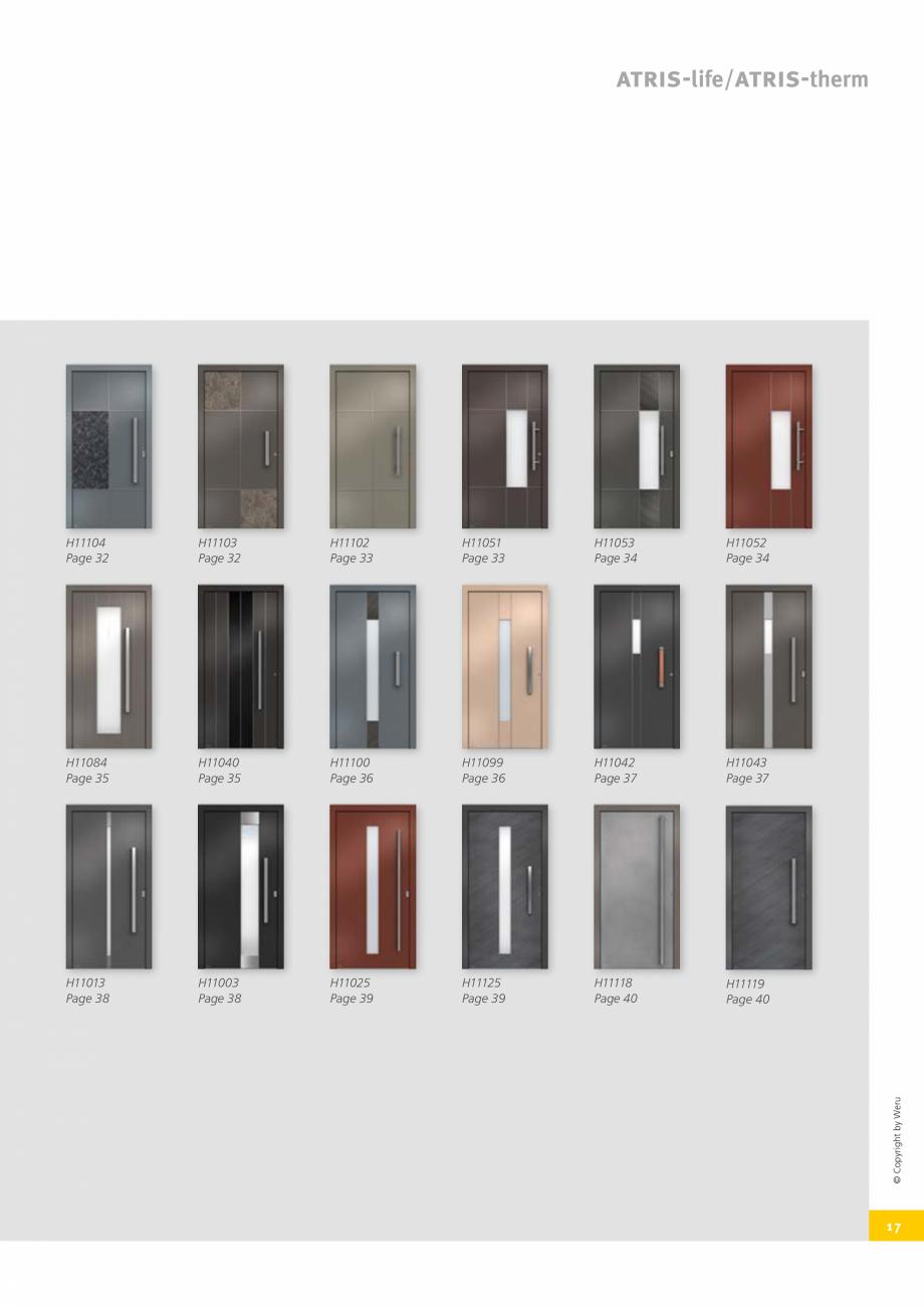 Pagina 17 - Usi de exterior din lemn-aluminiu UNILUX Catalog, brosura Engleza 0500  Entrance door...