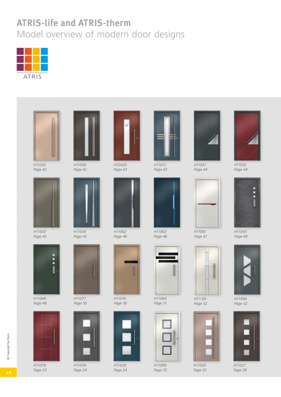 Pagina 18 - Usi de exterior din lemn-aluminiu UNILUX Catalog, brosura Engleza ntrance door Model ...