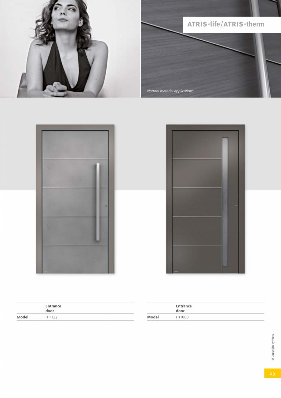 Pagina 23 - Usi de exterior din lemn-aluminiu UNILUX Catalog, brosura Engleza trance a special...