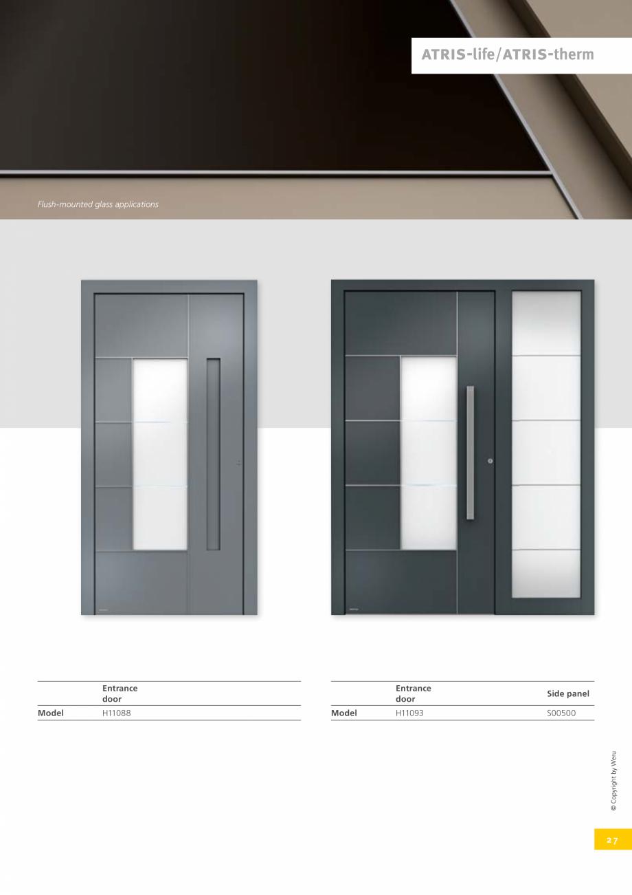 Pagina 27 - Usi de exterior din lemn-aluminiu UNILUX Catalog, brosura Engleza ed by removing the...