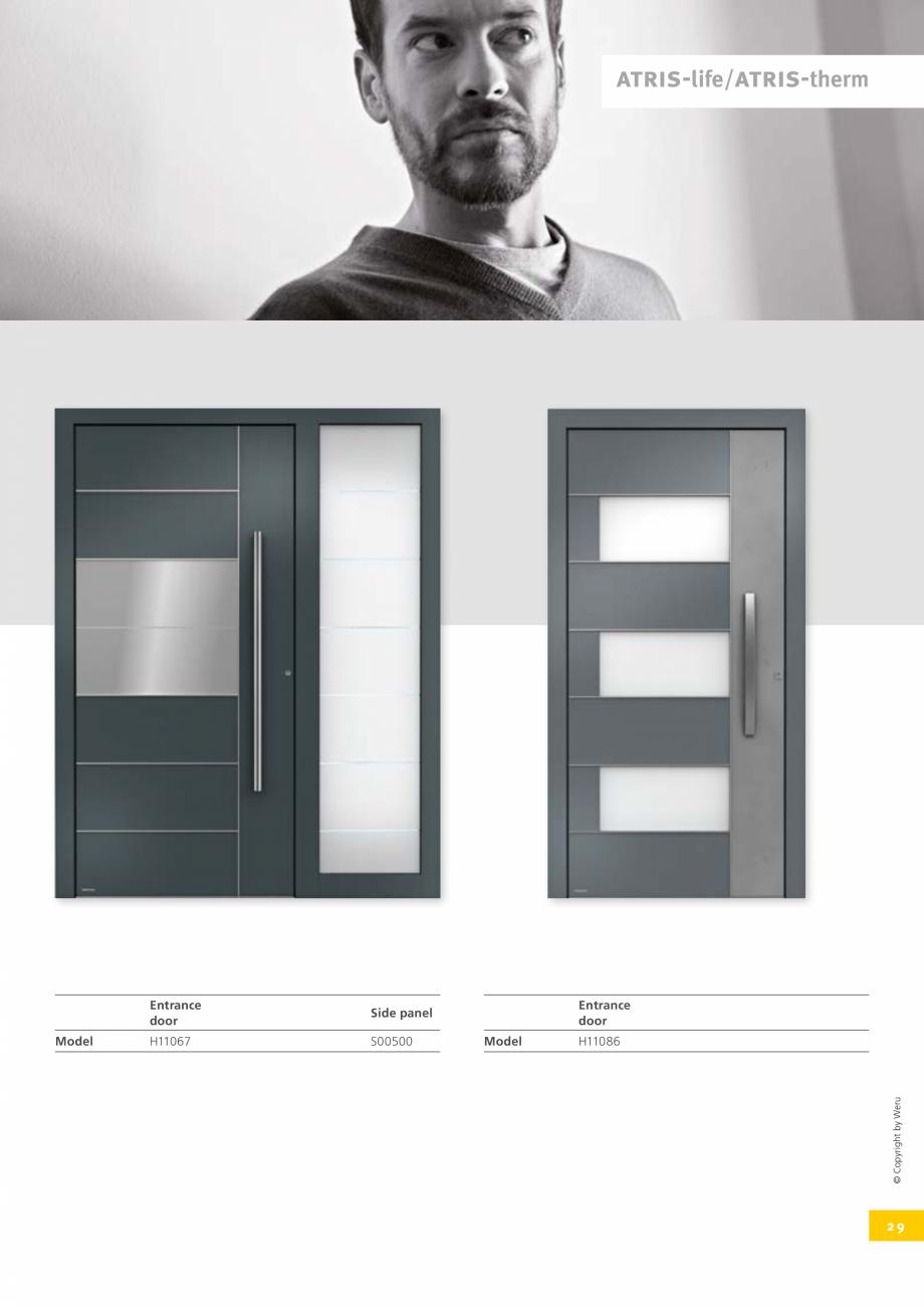 Pagina 29 - Usi de exterior din lemn-aluminiu UNILUX Catalog, brosura Engleza traight or curved,...