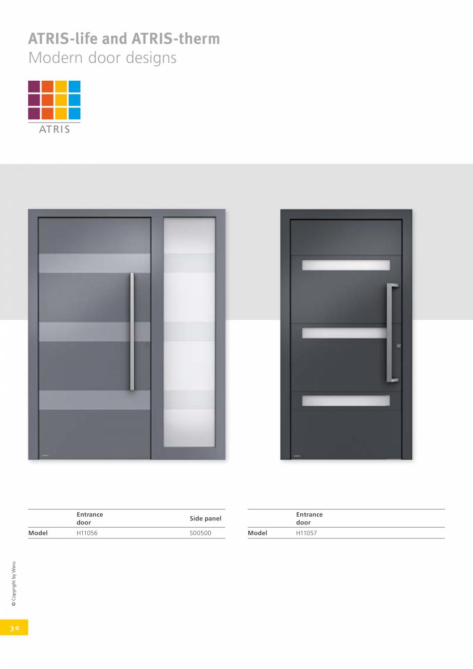 Pagina 30 - Usi de exterior din lemn-aluminiu UNILUX Catalog, brosura Engleza e door  © Copyright...