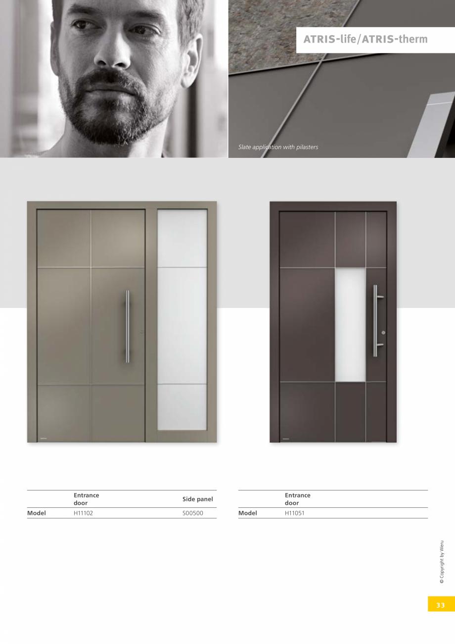 Pagina 33 - Usi de exterior din lemn-aluminiu UNILUX Catalog, brosura Engleza itional door designs  ...