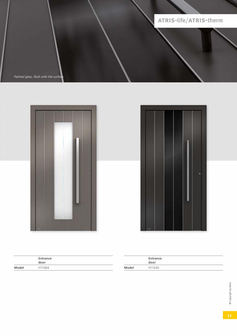 Pagina 35 - Usi de exterior din lemn-aluminiu UNILUX Catalog, brosura Engleza ge 106  H11150 Page...
