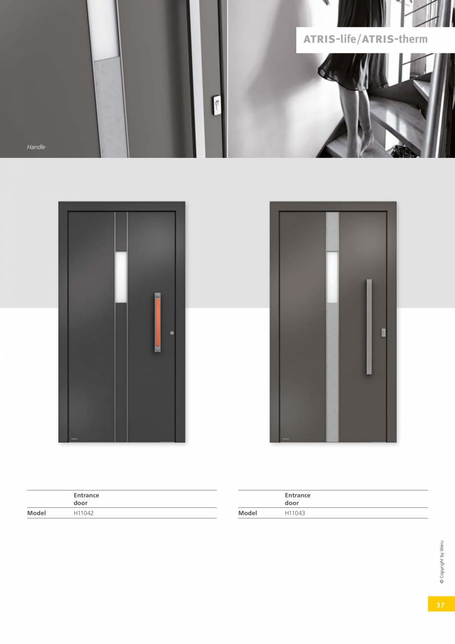 Pagina 37 - Usi de exterior din lemn-aluminiu UNILUX Catalog, brosura Engleza  your side: Wider...