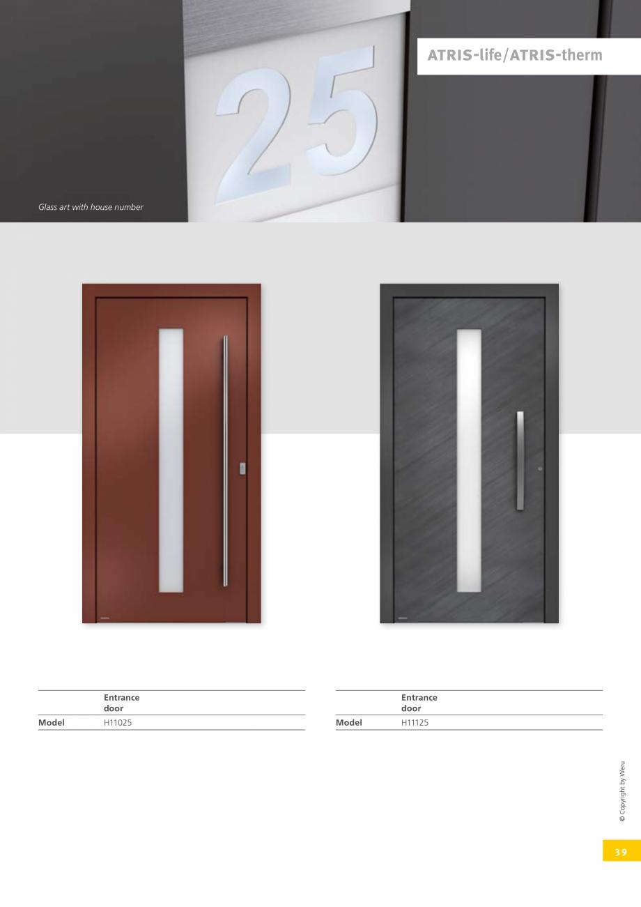 Pagina 39 - Usi de exterior din lemn-aluminiu UNILUX Catalog, brosura Engleza c light level, not...