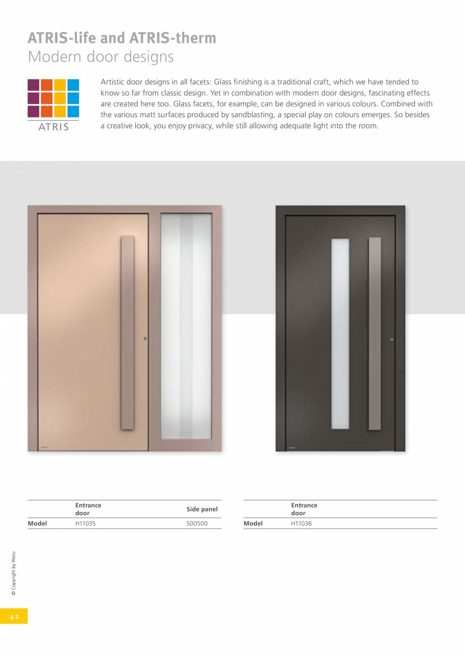 Pagina 41 - Usi de exterior din lemn-aluminiu UNILUX Catalog, brosura Engleza r  125  SEDOR...