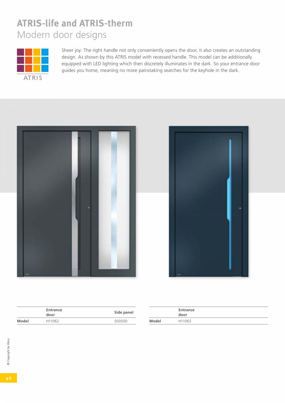 Pagina 45 - Usi de exterior din lemn-aluminiu UNILUX Catalog, brosura Engleza fers numerous design...
