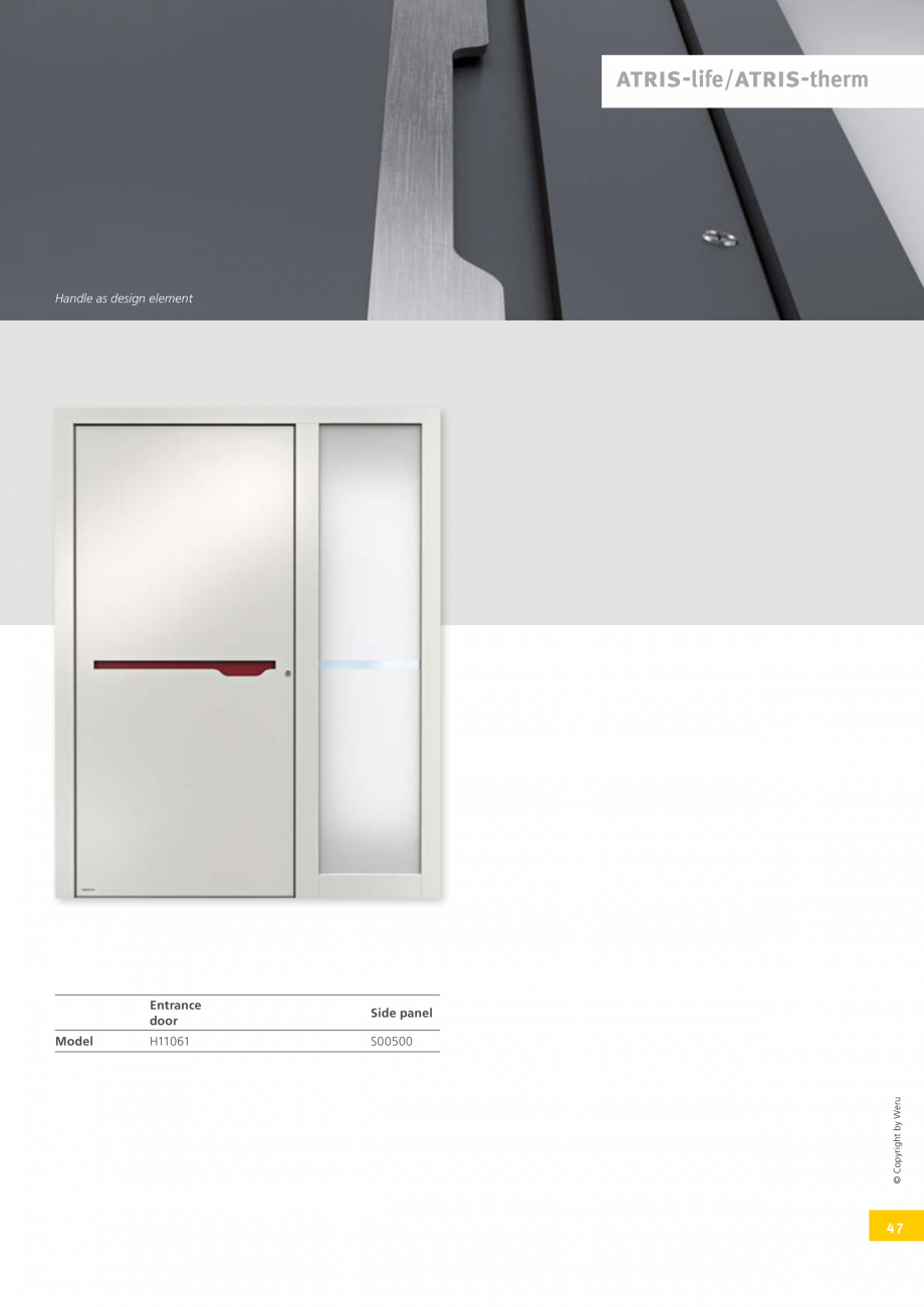 Pagina 46 - Usi de exterior din lemn-aluminiu UNILUX Catalog, brosura Engleza ings  Model  H12027 ...