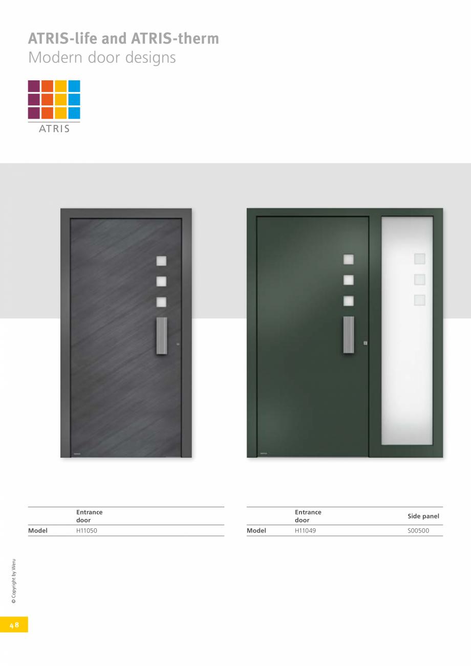 Pagina 47 - Usi de exterior din lemn-aluminiu UNILUX Catalog, brosura Engleza el  H12006  ©...