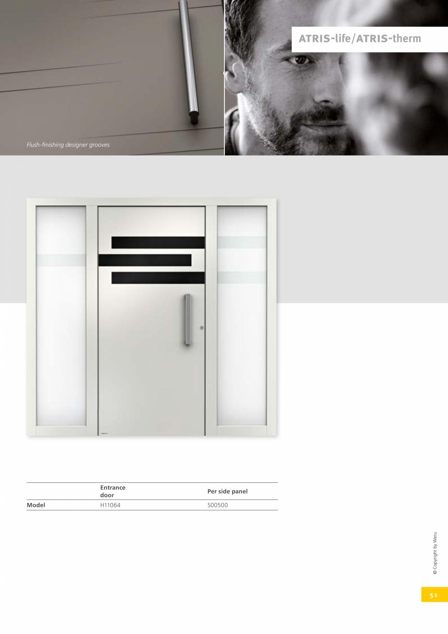 Pagina 50 - Usi de exterior din lemn-aluminiu UNILUX Catalog, brosura Engleza (m2K)  Glass rebate...