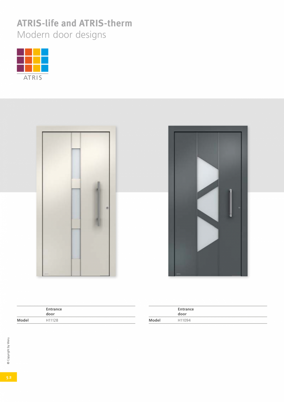 Pagina 51 - Usi de exterior din lemn-aluminiu UNILUX Catalog, brosura Engleza s and five lever sets...