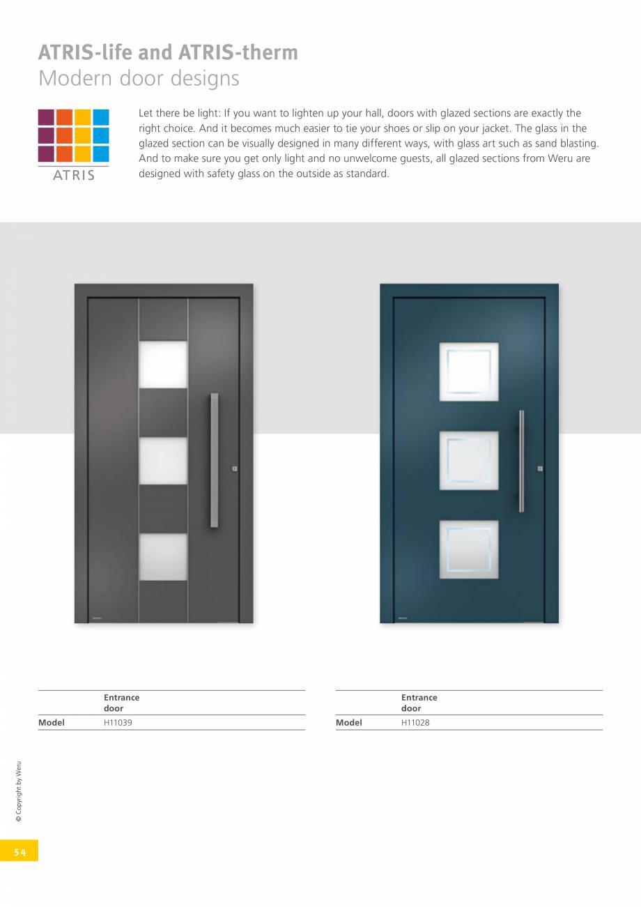 Pagina 53 - Usi de exterior din lemn-aluminiu UNILUX Catalog, brosura Engleza  R003oz-M  Square...