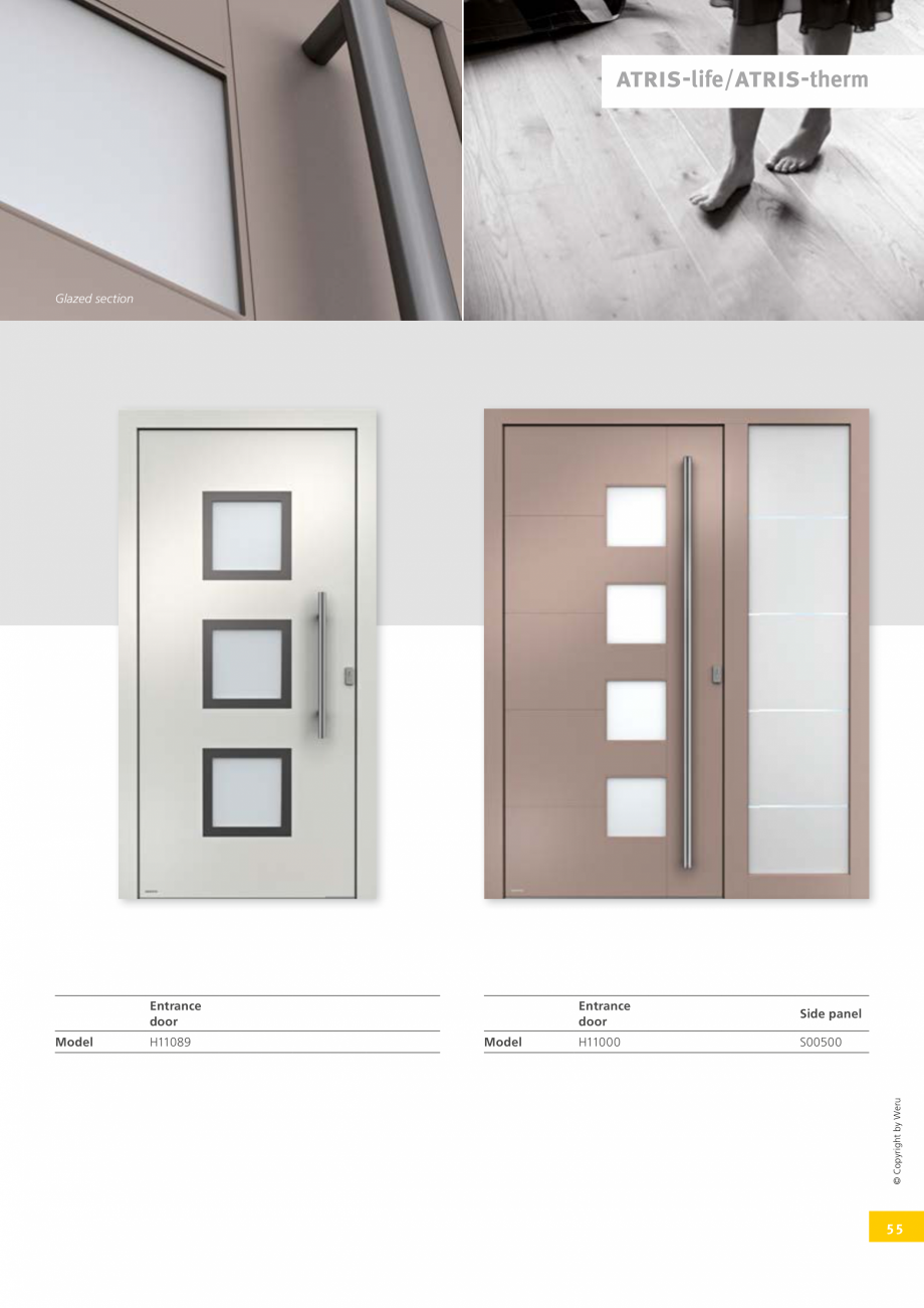 Pagina 54 - Usi de exterior din lemn-aluminiu UNILUX Catalog, brosura Engleza  value of up to 0.6...