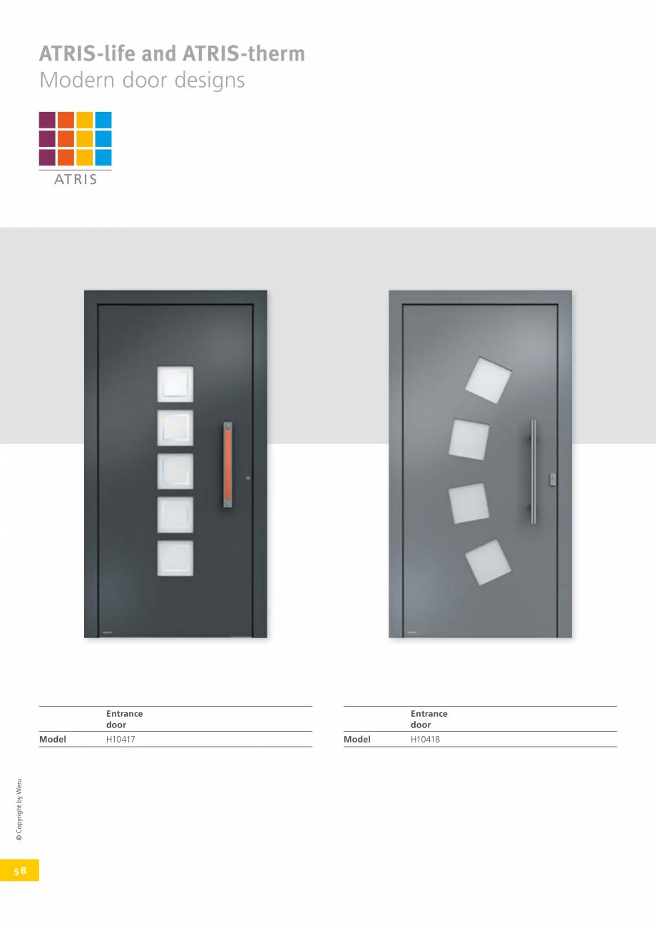 Pagina 57 - Usi de exterior din lemn-aluminiu UNILUX Catalog, brosura Engleza  + +  Colour + + + ...