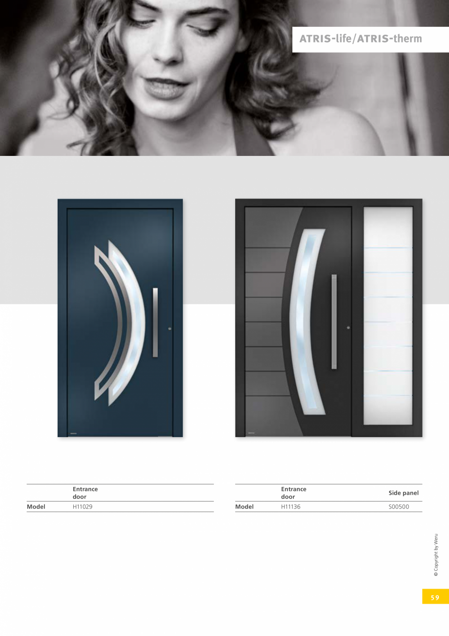 Pagina 58 - Usi de exterior din lemn-aluminiu UNILUX Catalog, brosura Engleza  RAL COLOURS* IN THE...