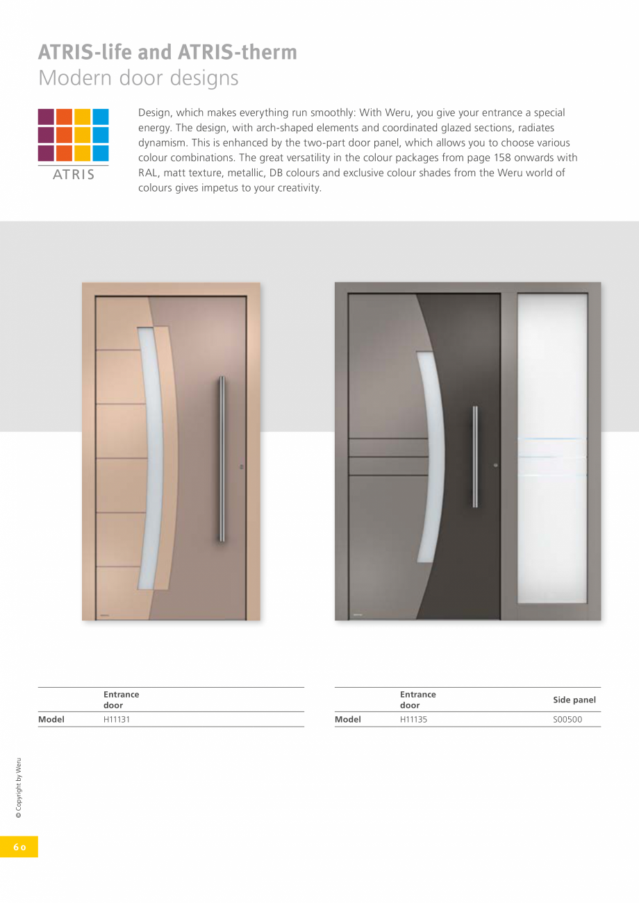 Pagina 59 - Usi de exterior din lemn-aluminiu UNILUX Catalog, brosura Engleza very door. The Weru...