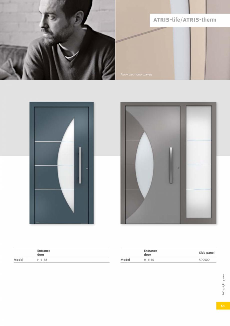 Pagina 61 - Usi de exterior din lemn-aluminiu UNILUX Catalog, brosura Engleza eru Mineral colours...