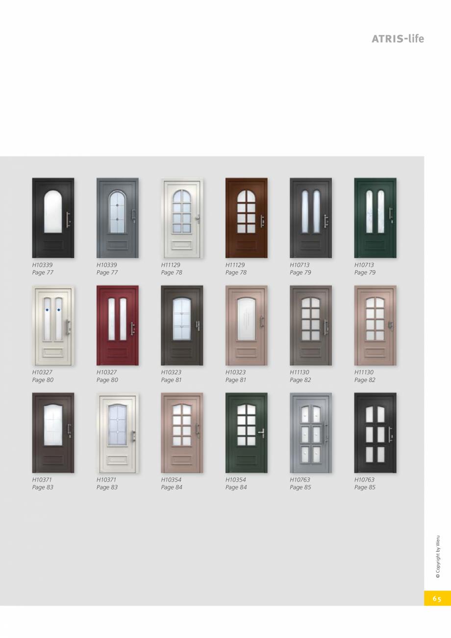 Pagina 65 - Usi de exterior din lemn-aluminiu UNILUX Catalog, brosura Engleza  particularly...