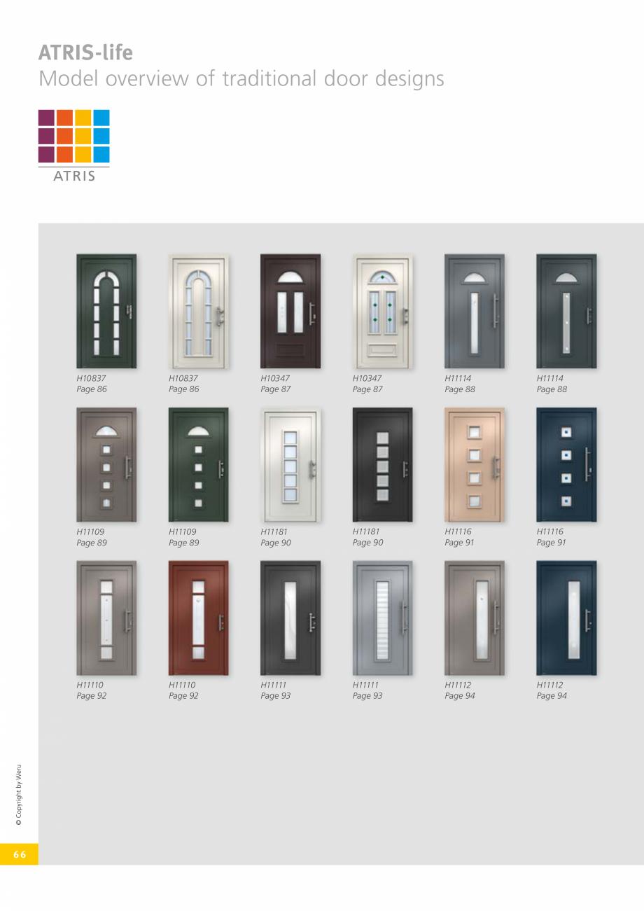 Pagina 66 - Usi de exterior din lemn-aluminiu UNILUX Catalog, brosura Engleza handles, while the ++ ...