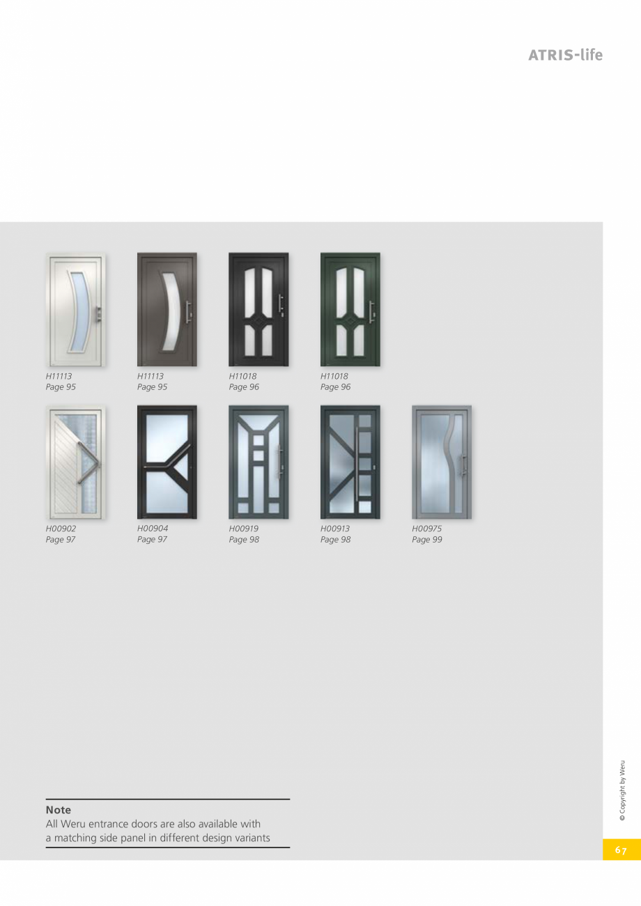 Pagina 67 - Usi de exterior din lemn-aluminiu UNILUX Catalog, brosura Engleza r door a special feel ...