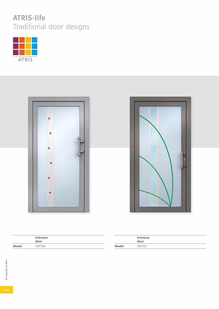 Pagina 68 - Usi de exterior din lemn-aluminiu UNILUX Catalog, brosura Engleza ers six different...
