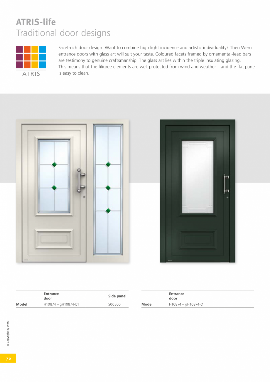 Pagina 70 - Usi de exterior din lemn-aluminiu UNILUX Catalog, brosura Engleza VERVIEW OF THE...