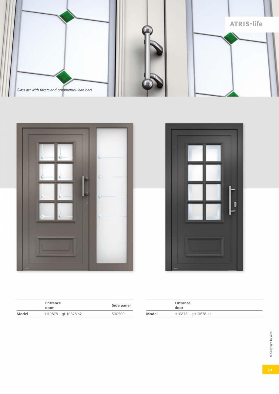 Pagina 71 - Usi de exterior din lemn-aluminiu UNILUX Catalog, brosura Engleza – Component of the...