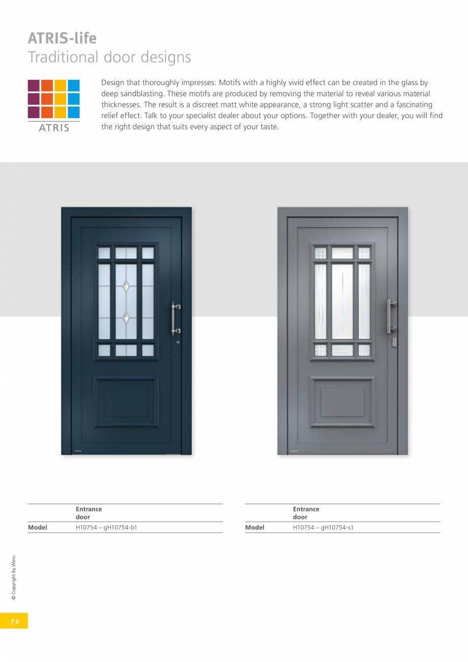 Pagina 72 - Usi de exterior din lemn-aluminiu UNILUX Catalog, brosura Engleza n through to opening...