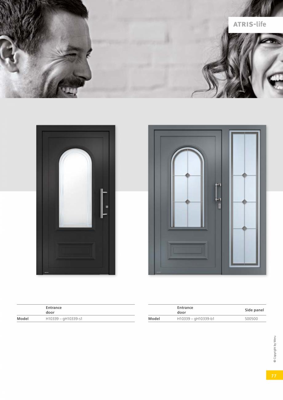 Pagina 77 - Usi de exterior din lemn-aluminiu UNILUX Catalog, brosura Engleza lation Vacuum...