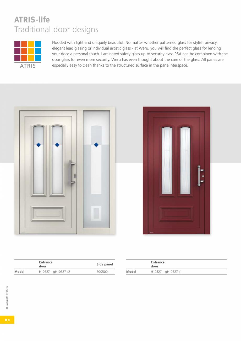 Pagina 80 - Usi de exterior din lemn-aluminiu UNILUX Catalog, brosura Engleza  happening outside and...