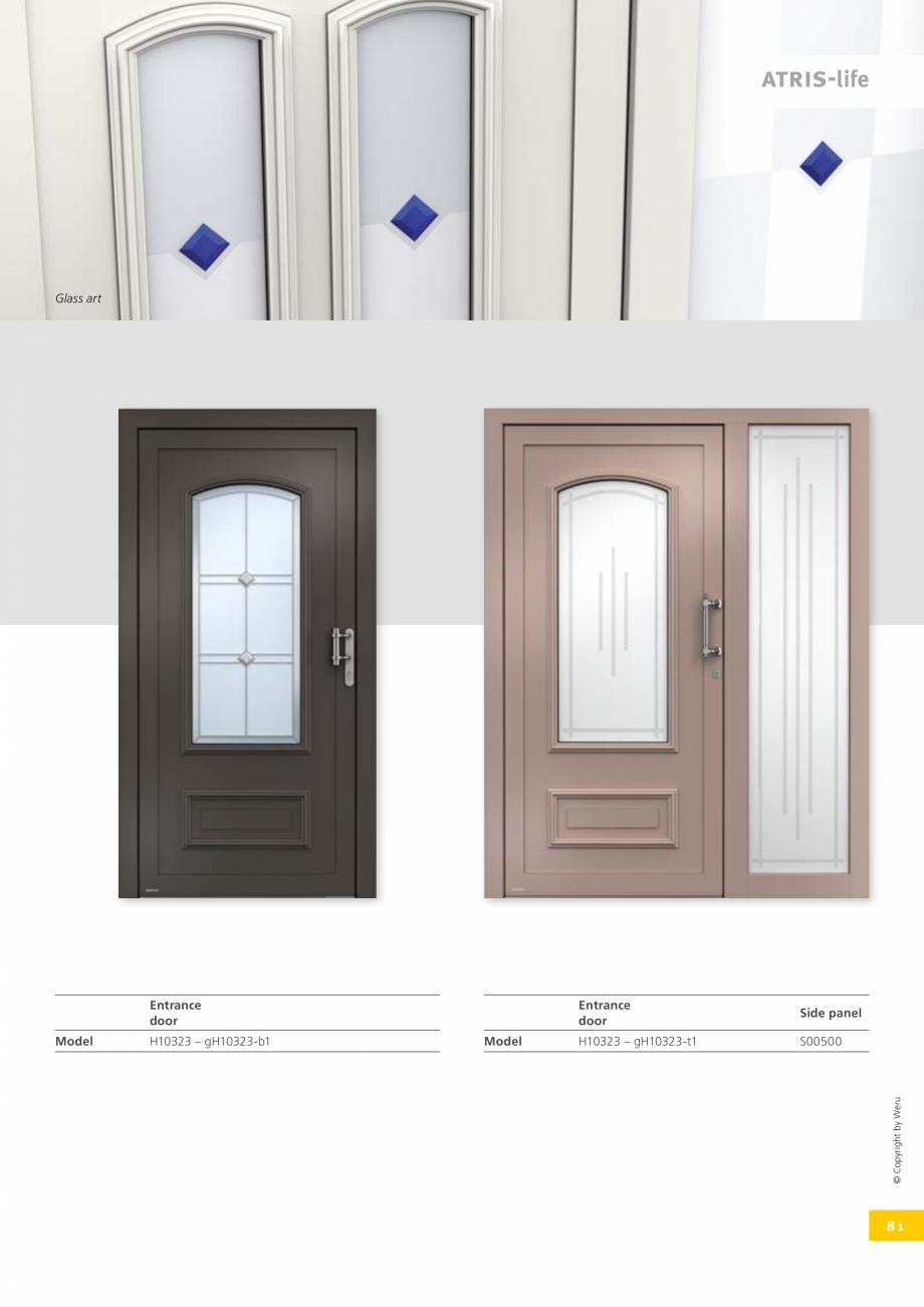 Pagina 81 - Usi de exterior din lemn-aluminiu UNILUX Catalog, brosura Engleza om stainless steel in ...