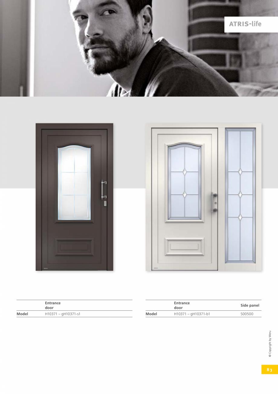 Pagina 83 - Usi de exterior din lemn-aluminiu UNILUX Catalog, brosura Engleza 106  H11029  59 ...