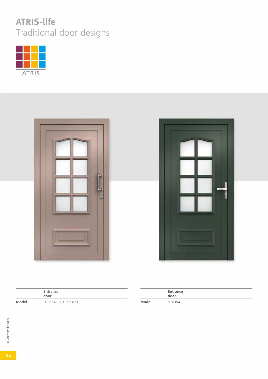 Pagina 84 - Usi de exterior din lemn-aluminiu UNILUX Catalog, brosura Engleza   H11175  106  H11070 ...