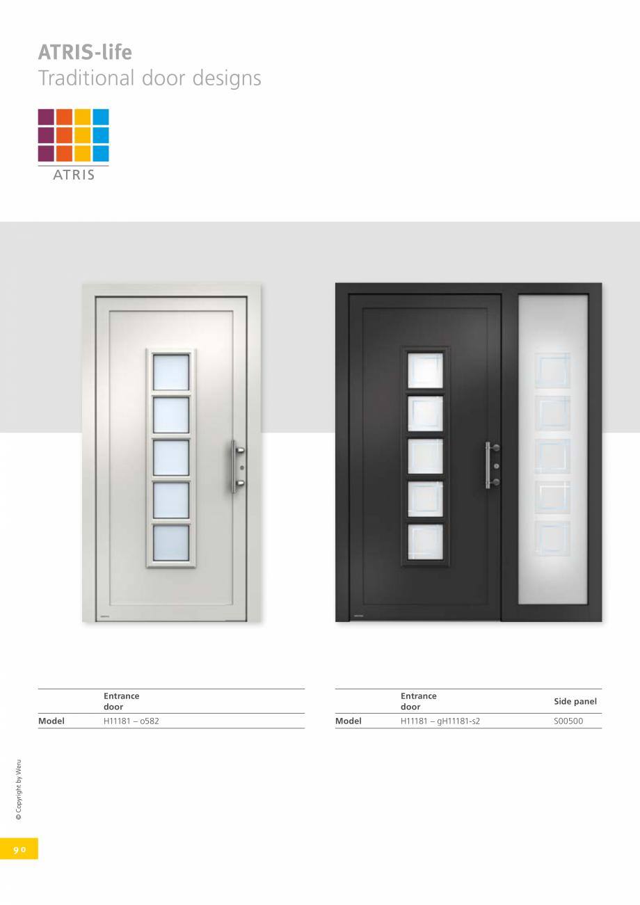 Pagina 90 - Usi de exterior din lemn-aluminiu UNILUX Catalog, brosura Engleza ne tomorrow. With Weru...