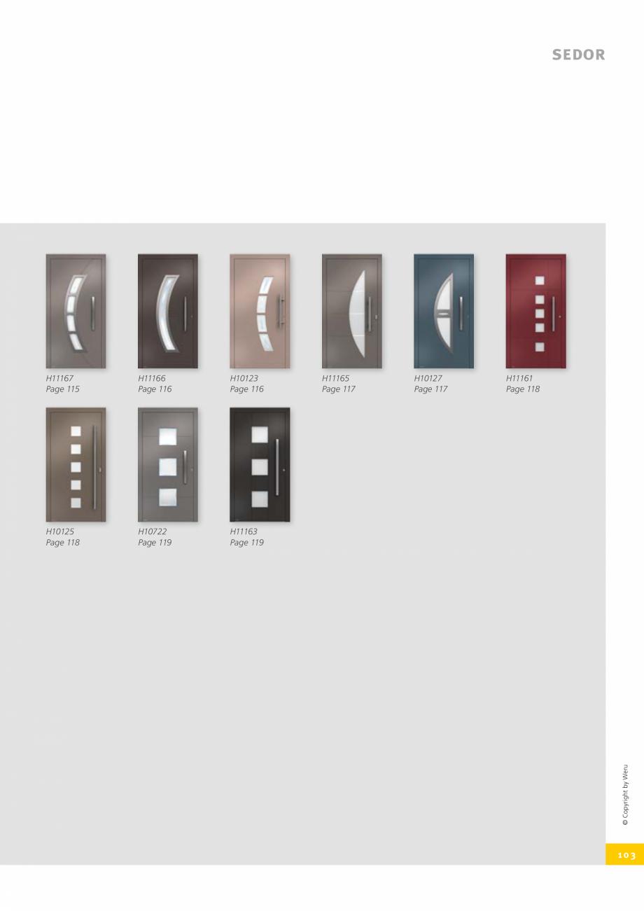 Pagina 103 - Usi de exterior din lemn-aluminiu UNILUX Catalog, brosura Engleza