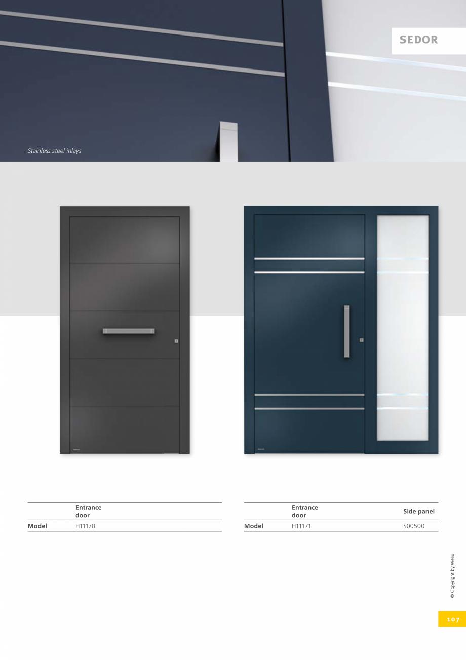 Pagina 107 - Usi de exterior din lemn-aluminiu UNILUX Catalog, brosura Engleza