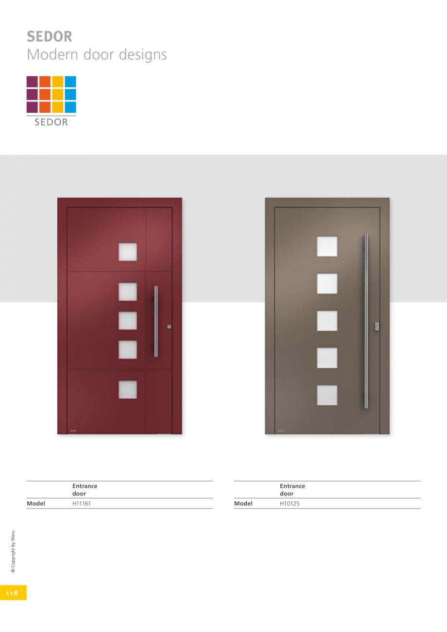 Pagina 118 - Usi de exterior din lemn-aluminiu UNILUX Catalog, brosura Engleza