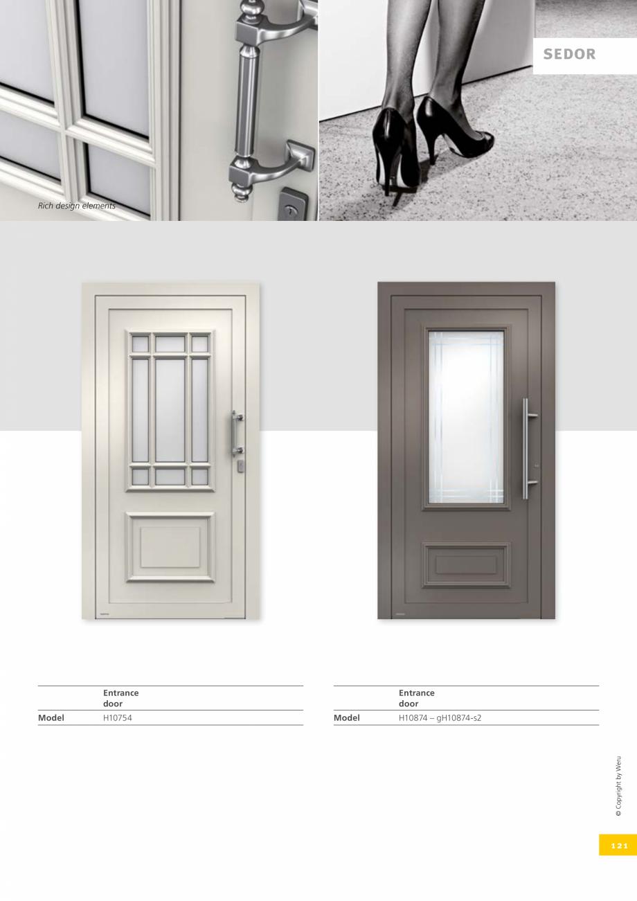 Pagina 121 - Usi de exterior din lemn-aluminiu UNILUX Catalog, brosura Engleza