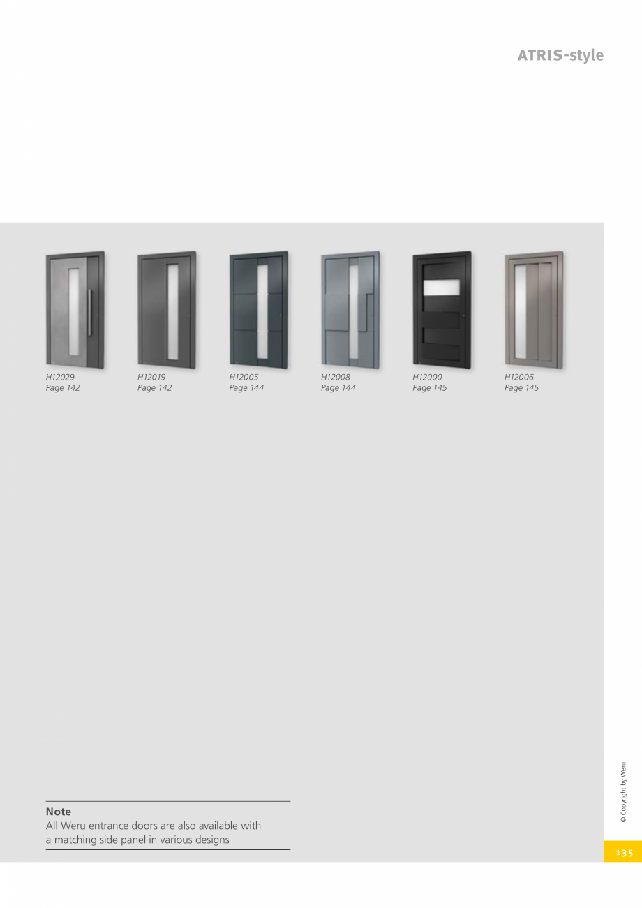 Pagina 135 - Usi de exterior din lemn-aluminiu UNILUX Catalog, brosura Engleza