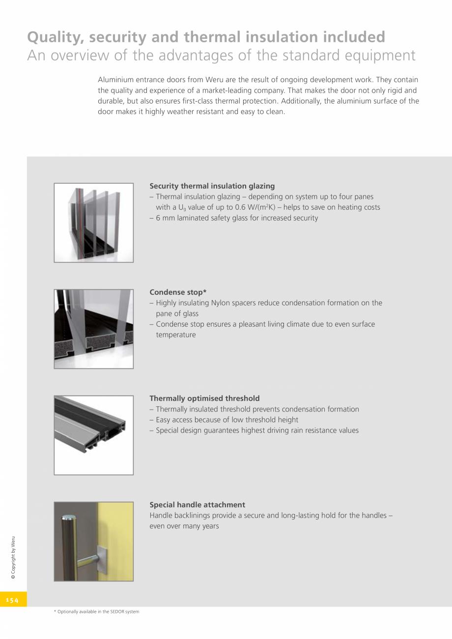 Pagina 154 - Usi de exterior din lemn-aluminiu UNILUX Catalog, brosura Engleza