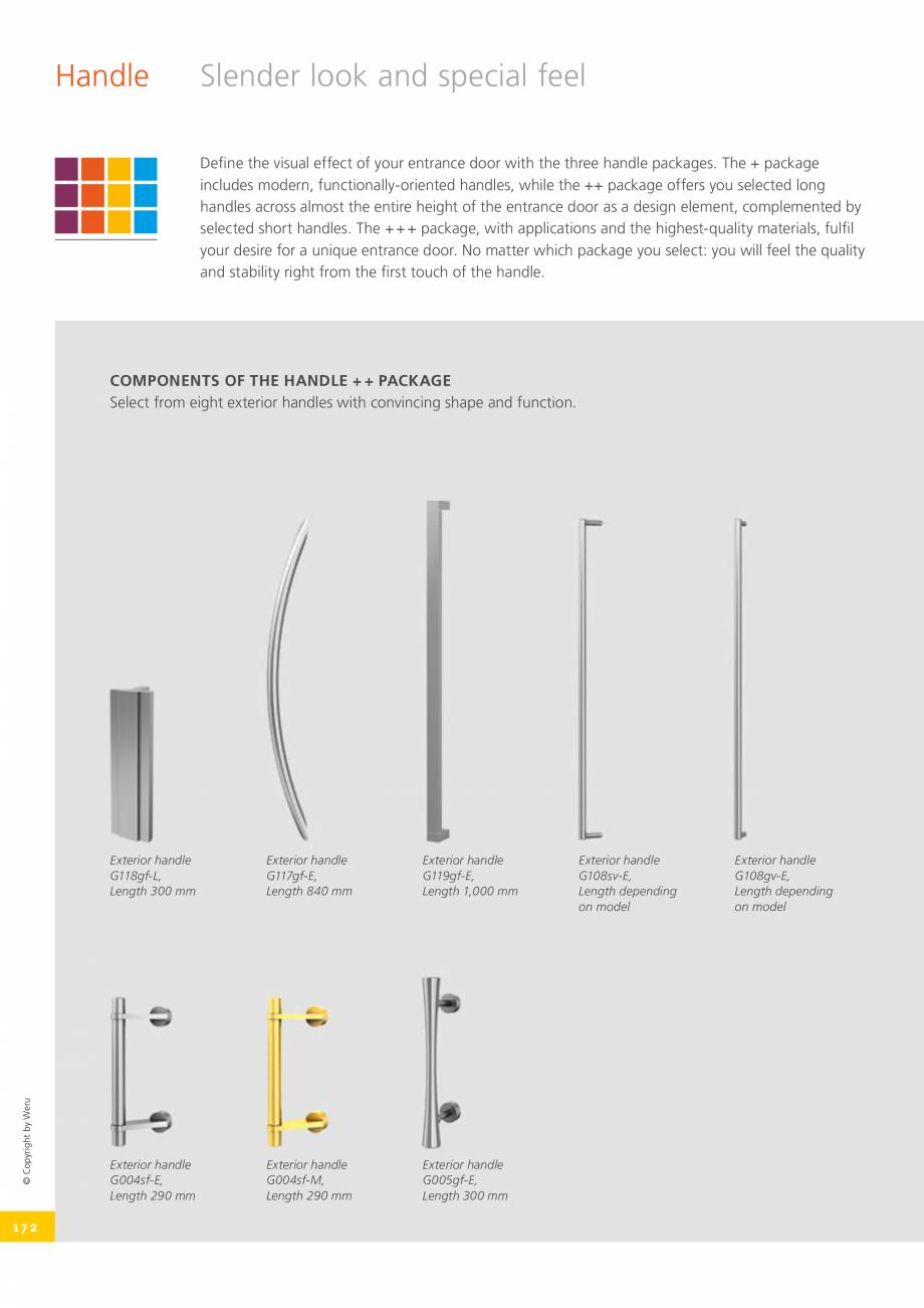 Pagina 172 - Usi de exterior din lemn-aluminiu UNILUX Catalog, brosura Engleza