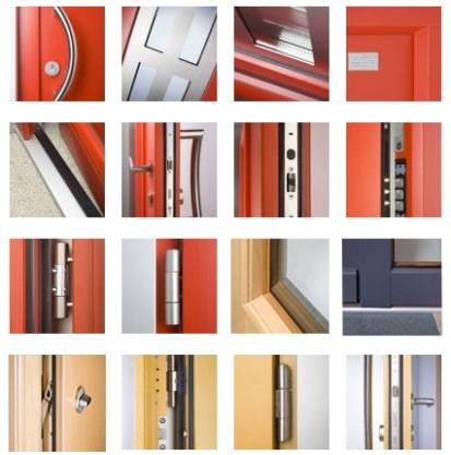 Usa de exterior - detalii Usi de exterior din lemn-aluminiu