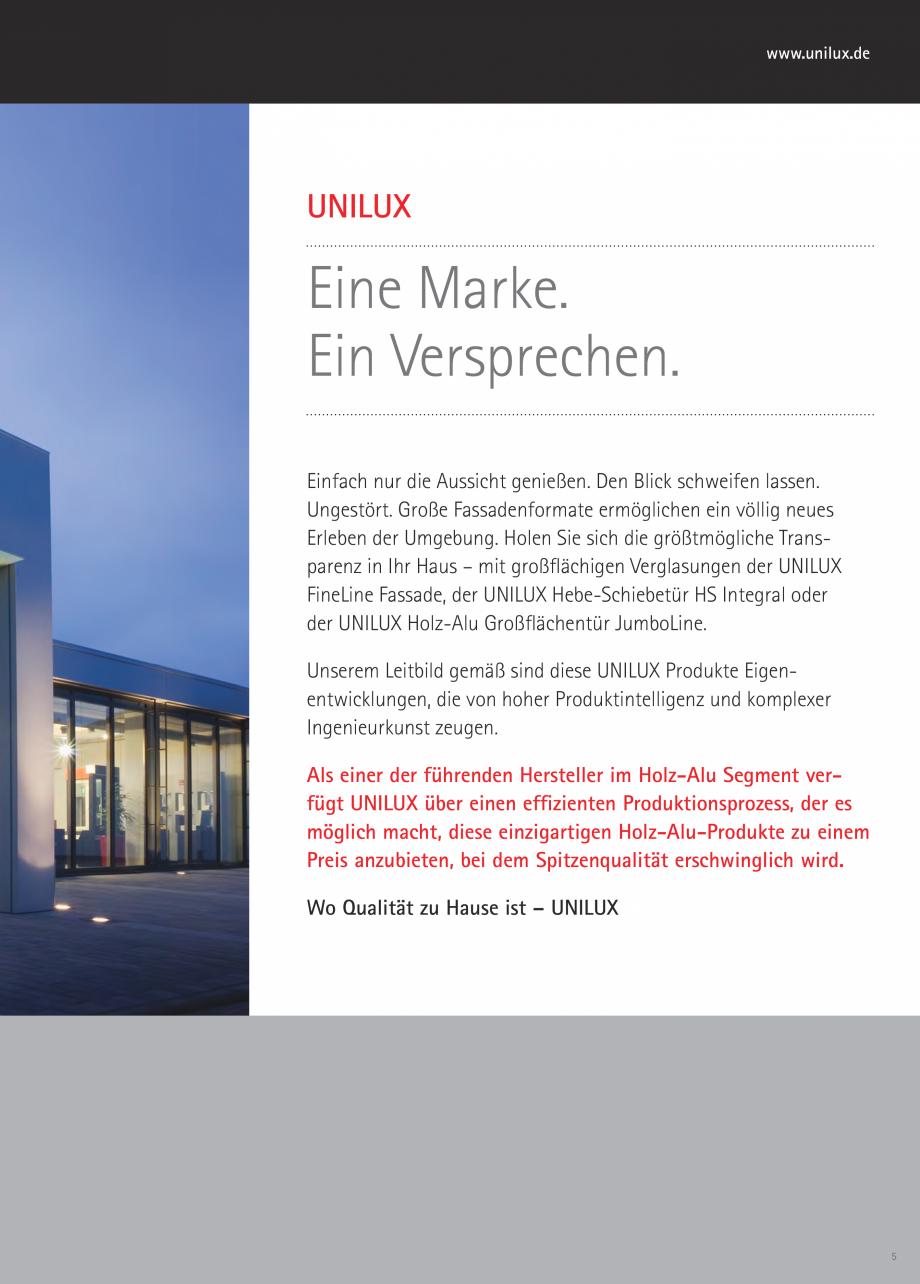 Pagina 4 - Pereti cortina profile structurale UNILUX FINE LINE  Catalog, brosura Germana en und 2...