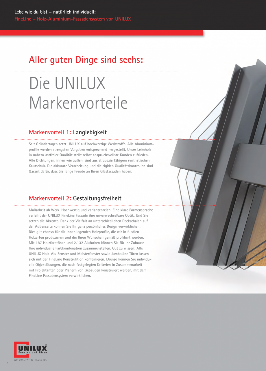 Pagina 5 - Pereti cortina profile structurale UNILUX FINE LINE  Catalog, brosura Germana ort, wo sie...
