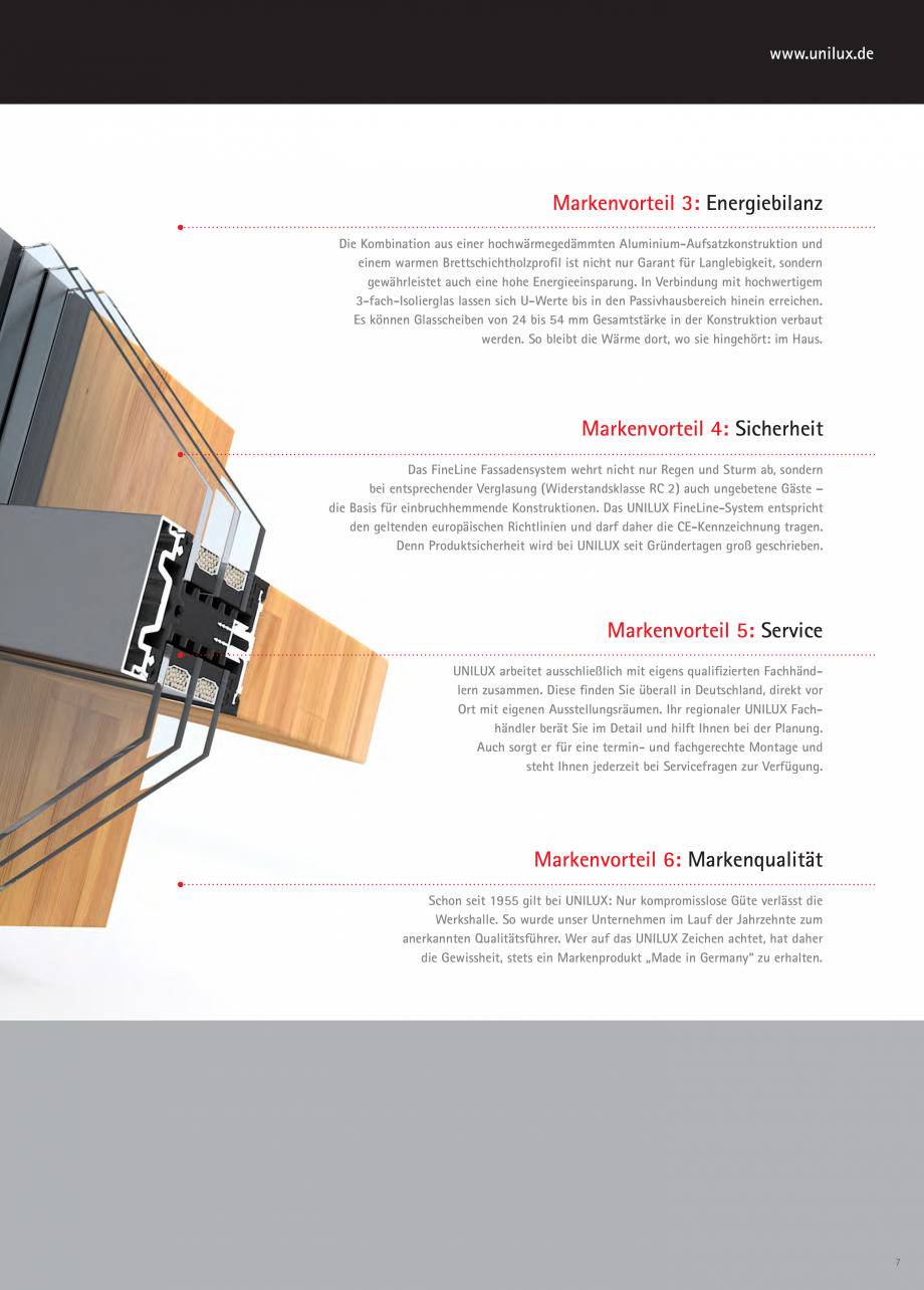 Pagina 6 - Pereti cortina profile structurale UNILUX FINE LINE  Catalog, brosura Germana r...