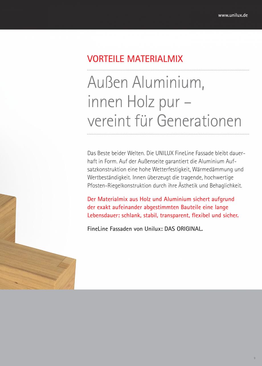 Pagina 8 - Pereti cortina profile structurale UNILUX FINE LINE  Catalog, brosura Germana /m2K ...