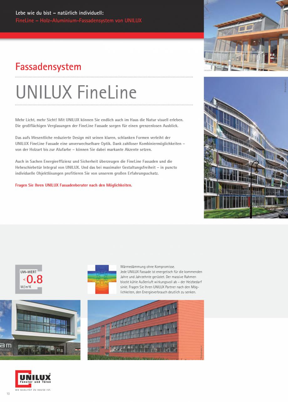 Pagina 9 - Pereti cortina profile structurale UNILUX FINE LINE  Catalog, brosura Germana . Auch...
